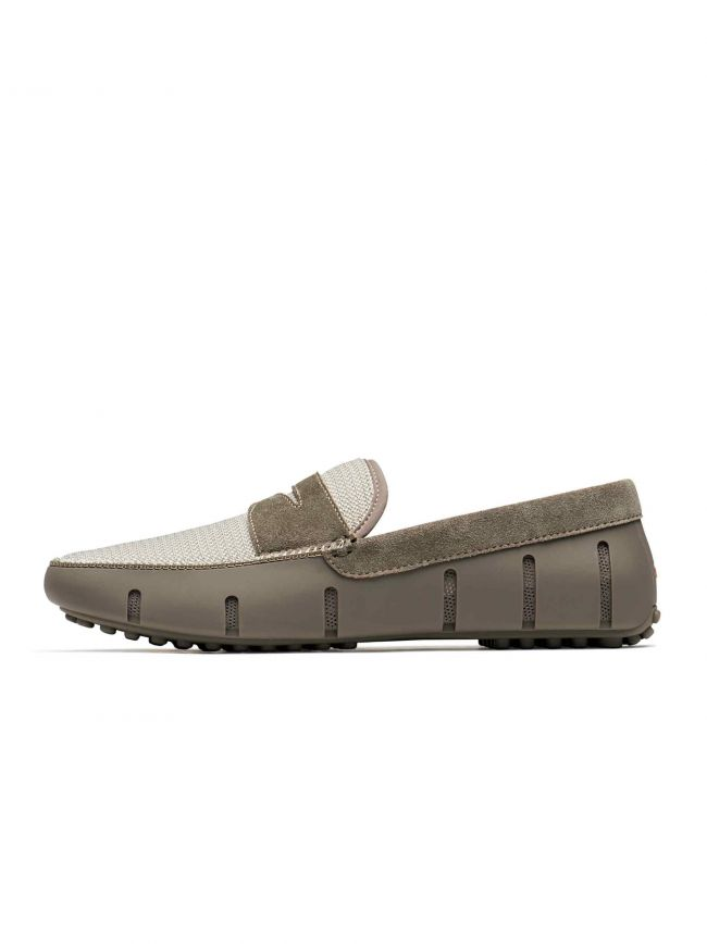 Khaki Penny Lux Driver Loafer
