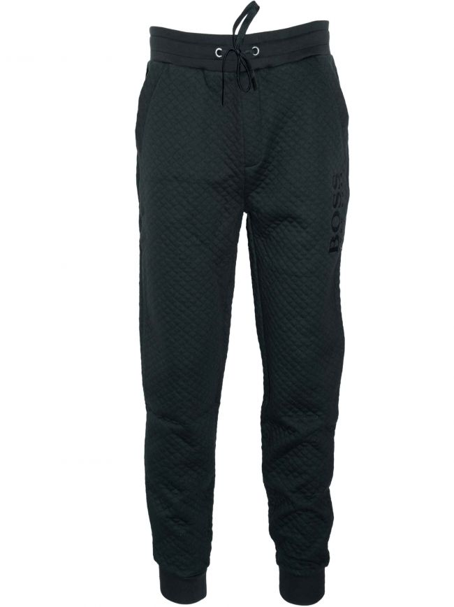 Black Quilted Tracksuit Pant