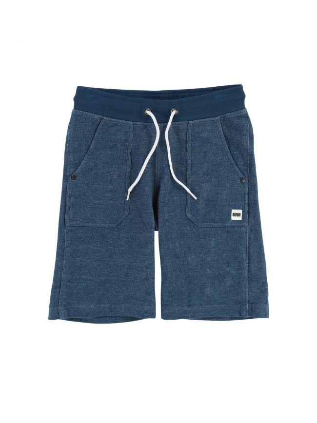BOSS Kids Teal Cotton Shorts