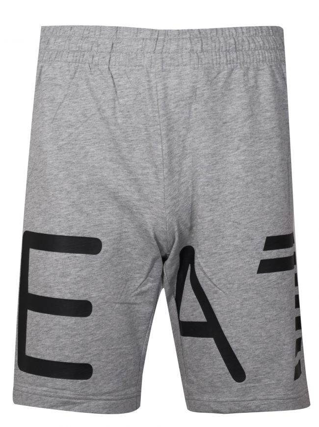 Grey Logo Cotton Shorts