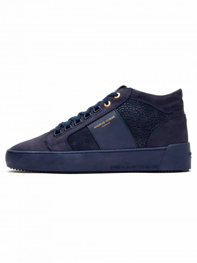 Navy Stingray Propulsion Mid Sneaker