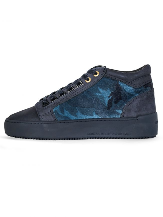 Midnight Blue Propulsion Mid Camo Sneaker