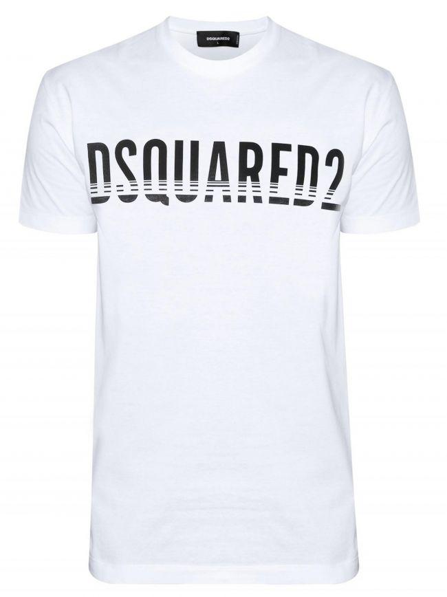 White Slice Logo Print T-Shirt