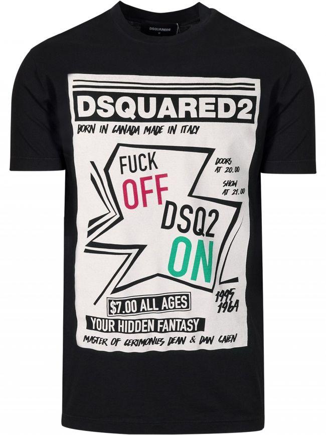 Black Logo Print T-Shirt