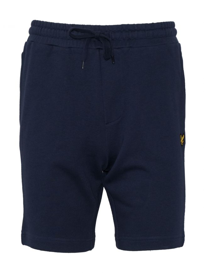 Navy Jersey Cotton Shorts