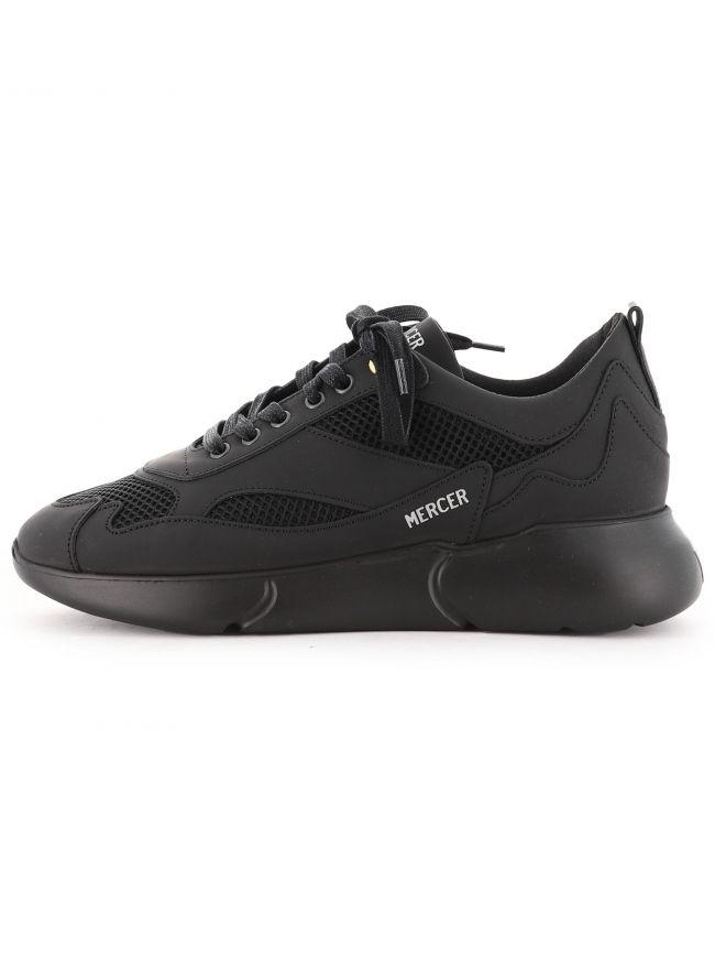 Black W3RD Matte Gum Leather Sneaker