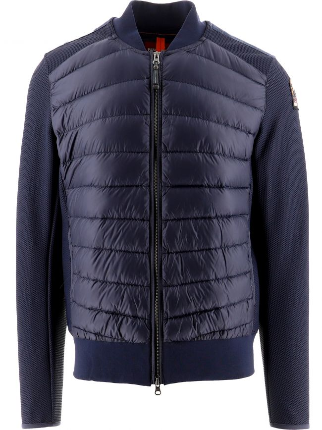 Navy Terence Fleece Nylon Jacket