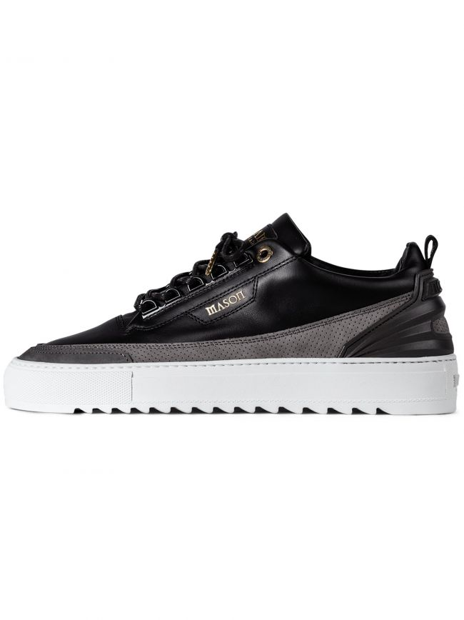 Black Firenze Leather Nubuck Sneaker