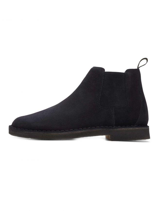 Black Suede Desert Chelsea Boot