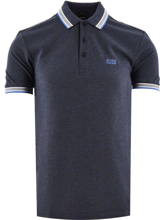 Blue Paddy Pique Cotton Polo