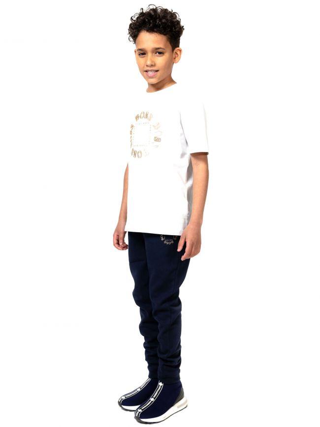 BOSS Kids White Logo Print T-Shirt
