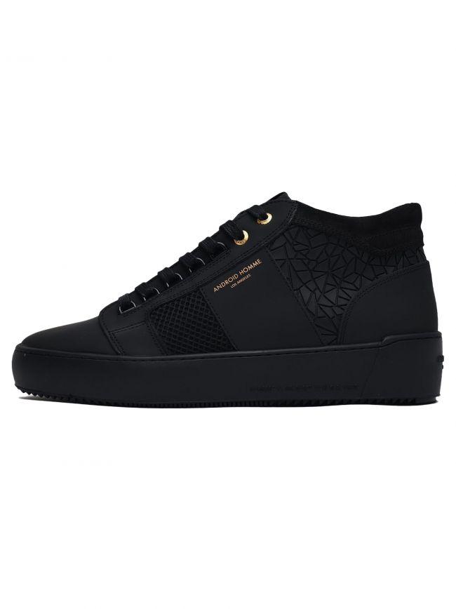 Black Rubber Mosaic Propulsion Mid Sneaker