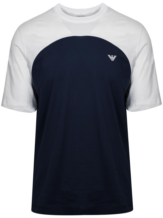 White & Navy T-Shirt