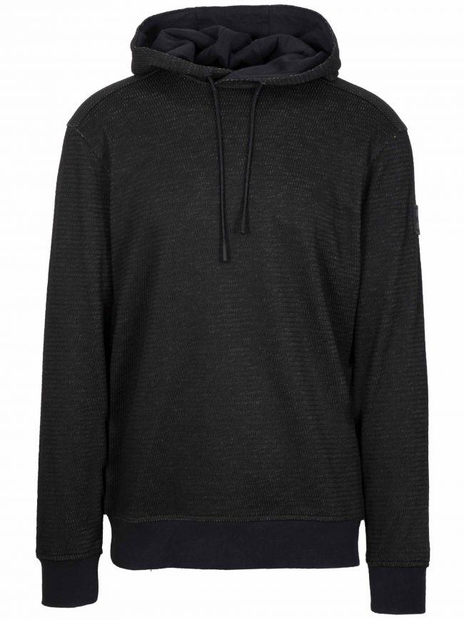 Black WeFly Hooded Sweatshirt