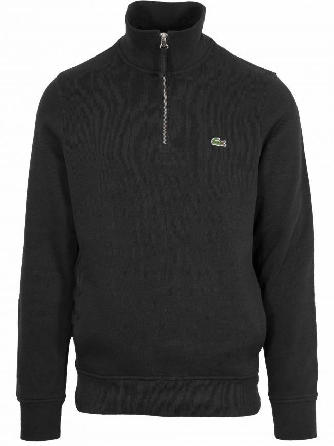 Black Logo Half Zip Sweatshirt