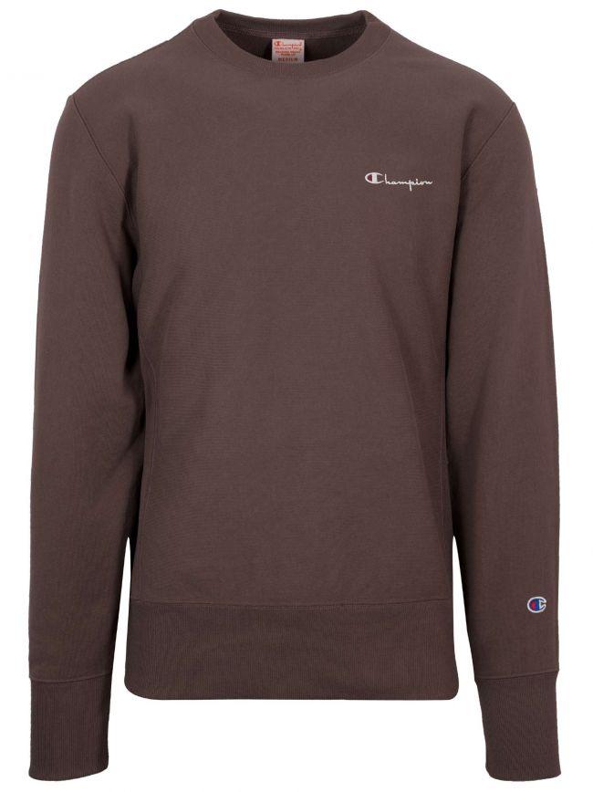 Reverse Weave Abergine Logo Sweatshirt