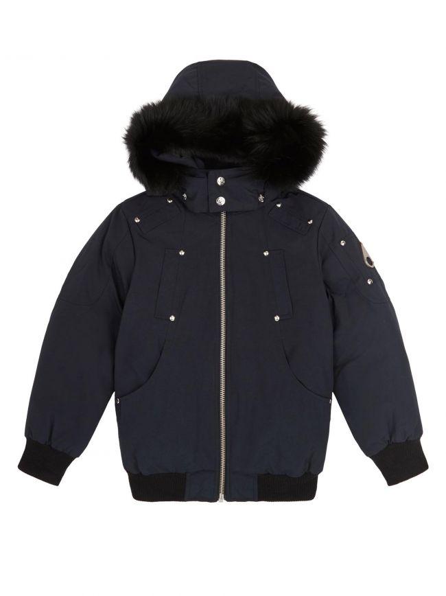 Navy Blue Bomber Parka Jacket