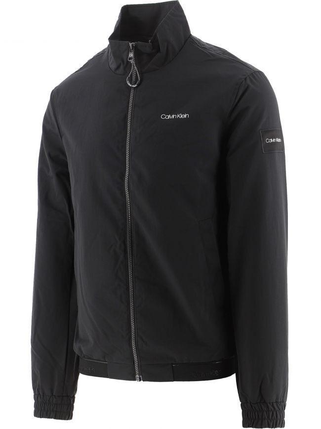 Black Recycled Nylon Zip Up Jacket