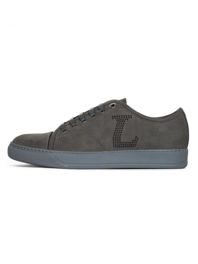Anthracite 'L' Nubuck Toe Cap Sneakers