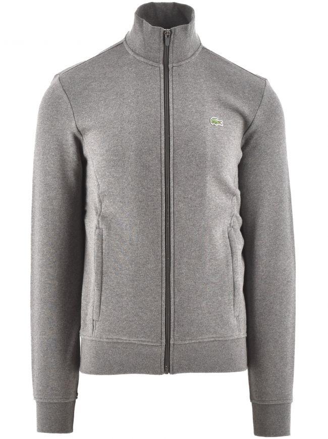 Cotton Blend Fleece Zip Sweatshirt