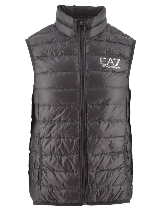 Grey Down Filled Slim Fit Gilet