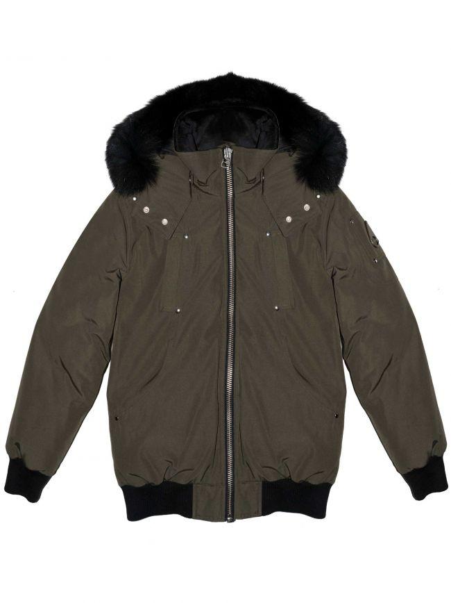 Khaki Bomber Parka Jacket