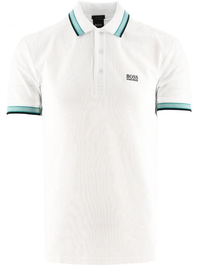 White Paddy Pique Cotton Polo