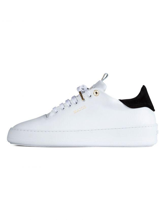 White & Navy Roma Sneaker