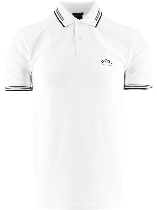 White Paul Curved Polo Shirt