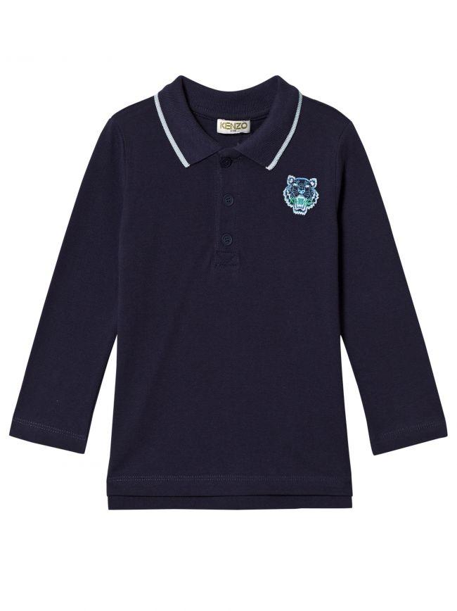 Kenzo Kids Navy Tiger Polo Shirt