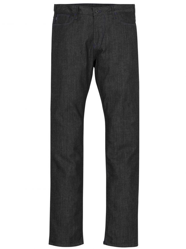 J06 Slim Fit Black Twill Jean