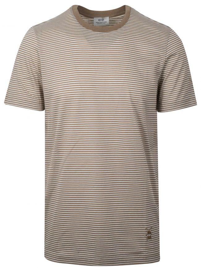 Beige Striped T-Shirt