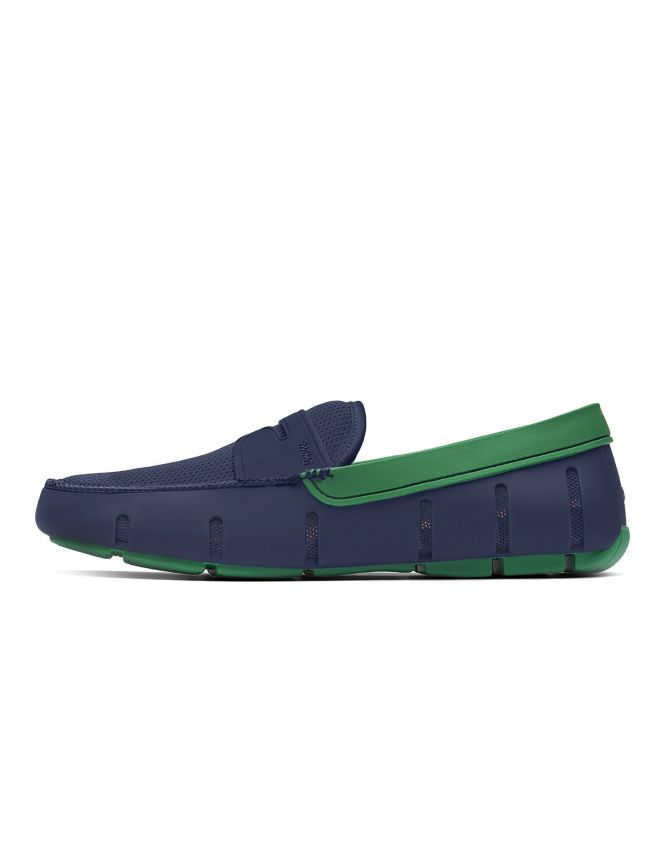 Navy & Jolly Green Penny Loafer
