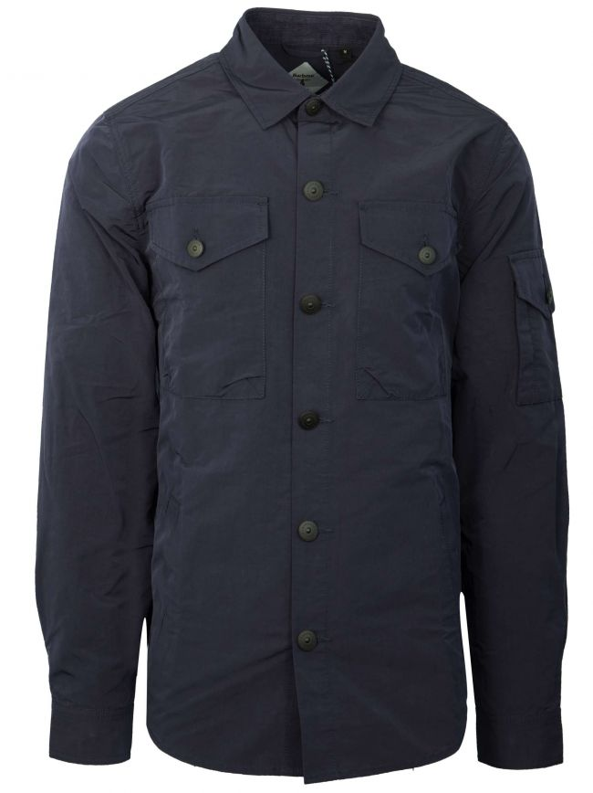 Askern Navy Polyester Over Shirt