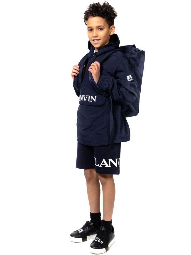 Lanvin Kids Navy Logo Backpack