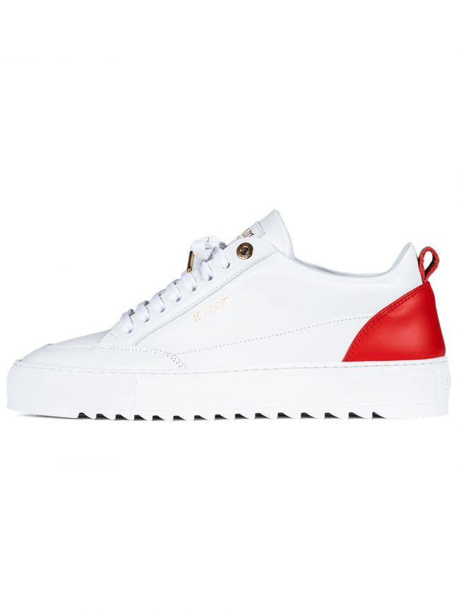 White & Red Nubuck Tia Sneaker
