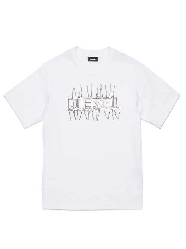 Diesel Kids White Just J11 T Shirt