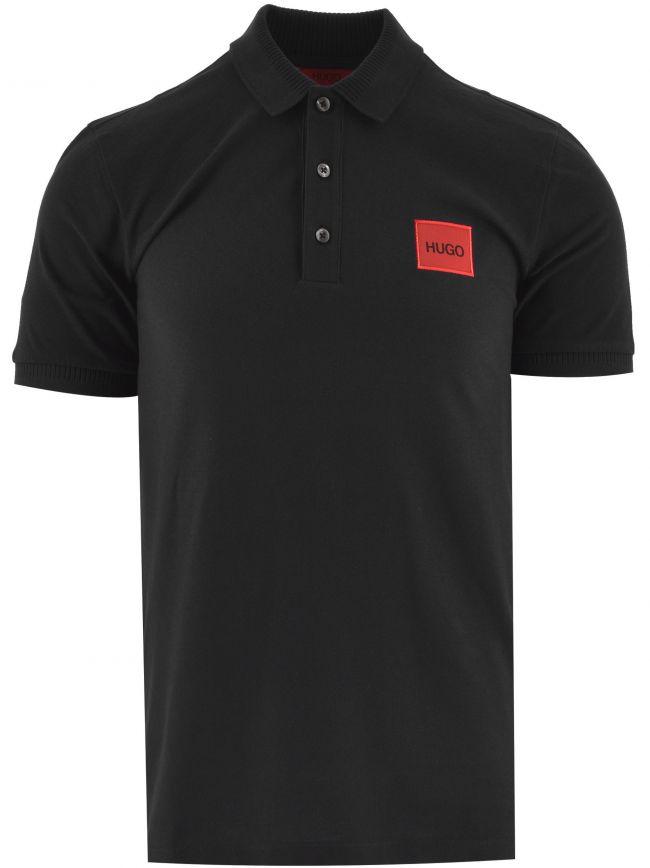 Black Dereso Square Logo Polo