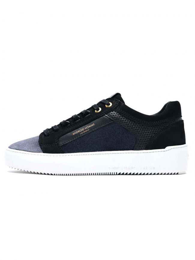 Black Velour Venice Low Sneaker