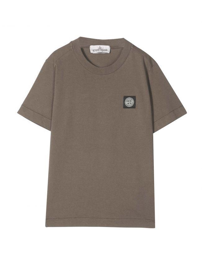 Beige Patch Logo T-shirt