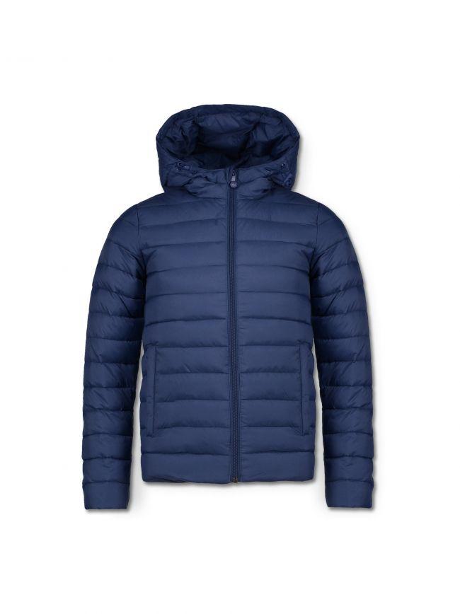 Navy Blue Carron Bubble Jacket