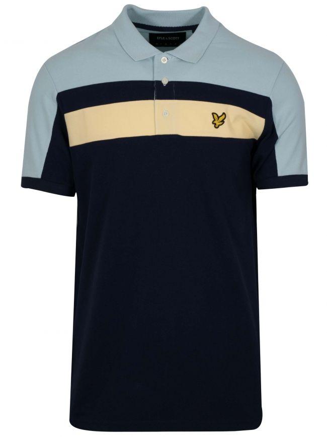 Navy Blue Block Polo Shirt