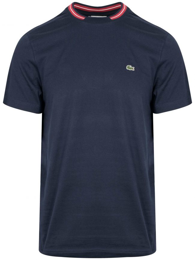 Navy & Red Round Neck T-Shirt