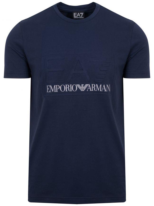 Navy Raised Logo T-Shirt