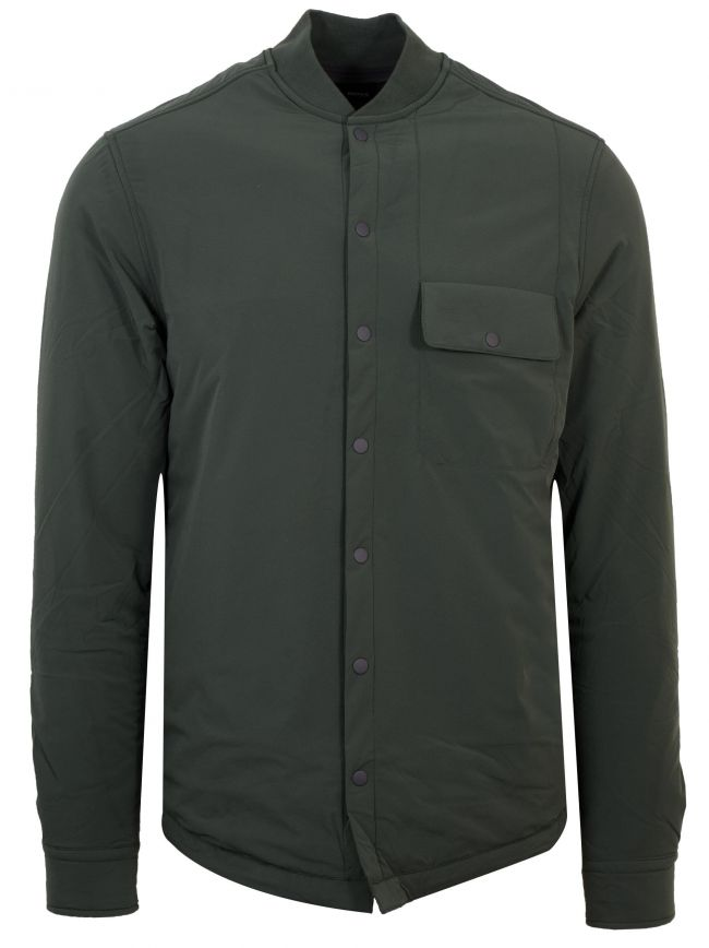 Bonne_X Khaki Padded Over Shirt