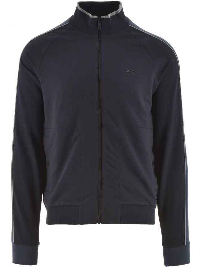 Dark Blue Long Sleeve Cotton Modal Sweatshirt