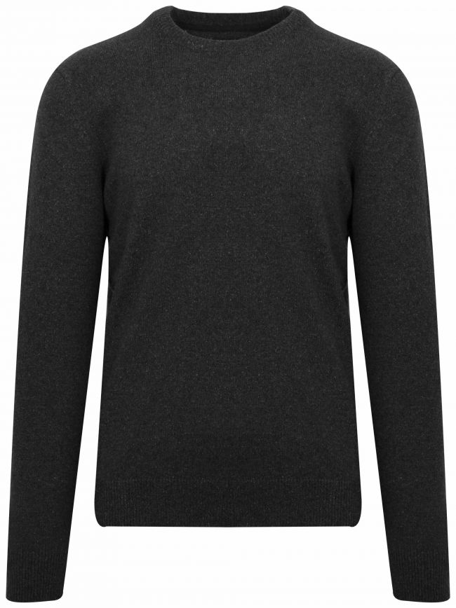 Tisbury Black Wool Sweatshirt