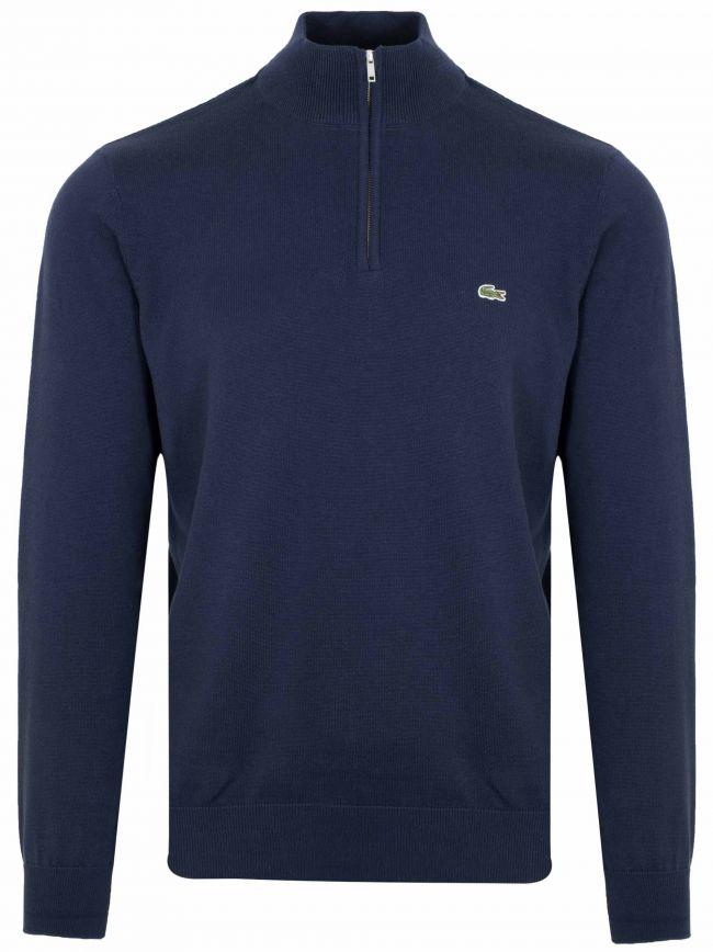Classic Navy Half Zip Sweatshirt