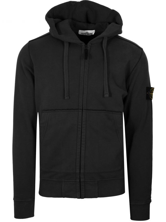 Black Zipped Hooded Sweatshirt