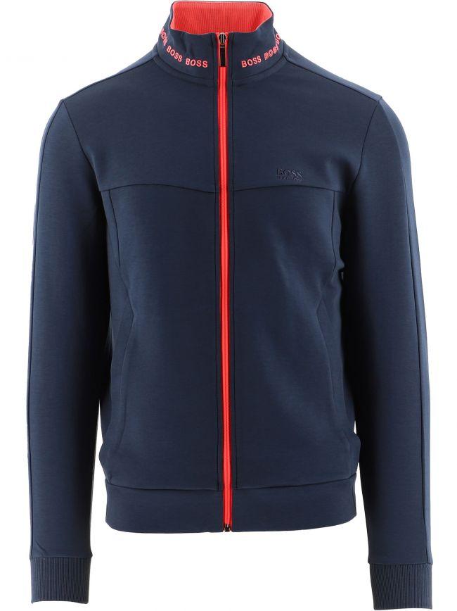 Navy Skaz 1 Contrast Zip-Up Sweatshirt